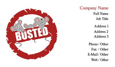 Busted Pest Control Business Card Template